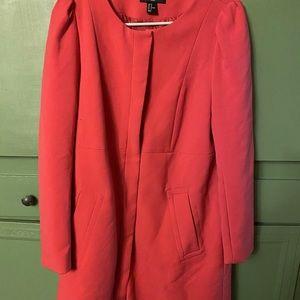 HP!14 Hot Pink/coral H&M Coat PuffyShoulders Retro